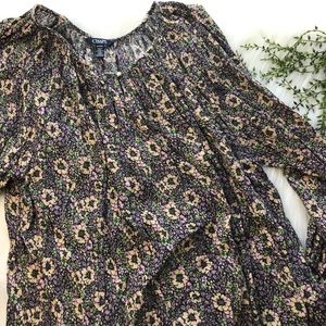 CHAPS floral 3/4 sleeve blouse GUC 1X